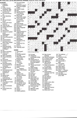 NYT Sunday Puzzle - 7/18/10
