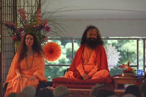 Sadhvi Bhagwati and Swami Chidanand Saraswati