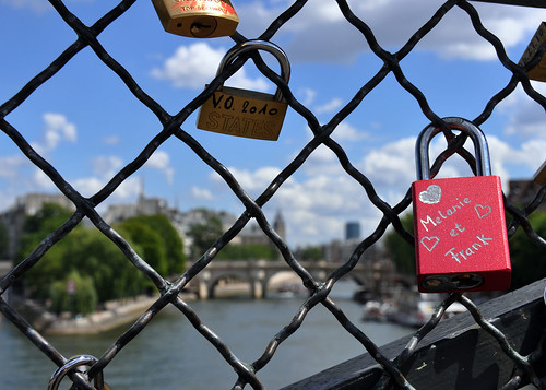 Locks of Love over the river Seine