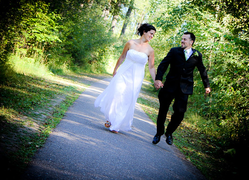 """Skipping""- G&C Wedding Portraits"