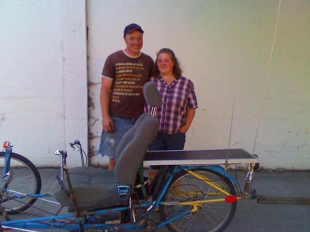 Shane and Crystal with the trike