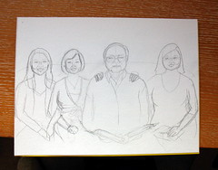 Sketch with faces