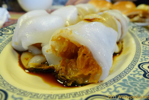 deep fried dough in Chinese rice cannelloni, Best Value Michelin Starred restaurant in the World