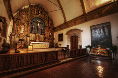 The apse and altar of Carmel Mission