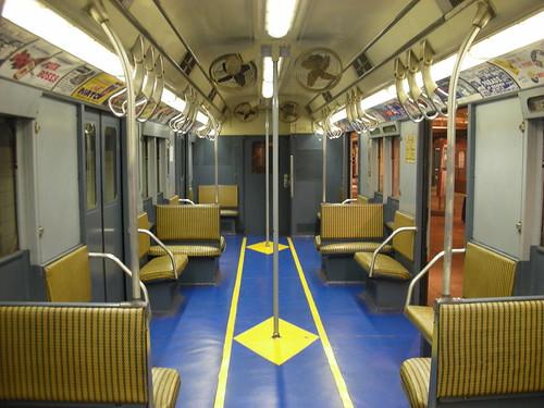 Old Subway Car at the NYC Transit Museum