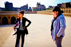 On the roof of ibn Tulun
