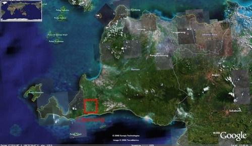 Cibaliung Banten - satellite