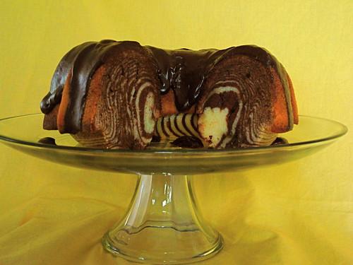 Zebra Bundt Cake