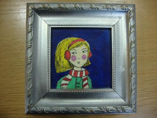 Winter girl for Winter craft fair in Lewisham