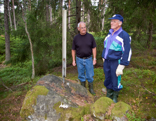 Arne Falk och Sven-Inge Brandt från Vrå hembygsförening