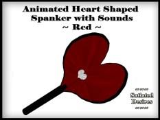 Heart Shaped Spanker - Red