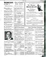 The Radio Times from October 31, 1945. Works Wonders was at 12.30pm