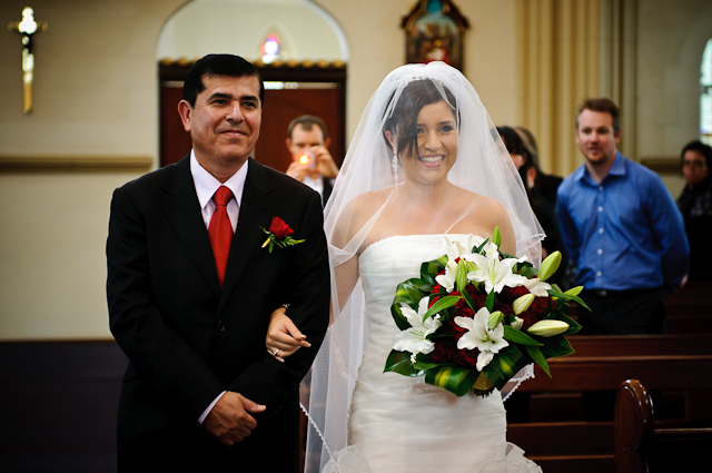 Laura and Elvis's Wedding-Walking down the aisle