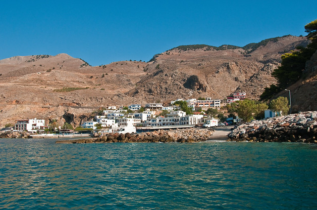 Hora Sfakion from the sea