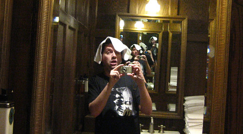 20100802 0047 - Cape Cod - bathroom - Clint - drunk - no recollection of taking this - IMG_1565