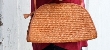 Handbag Pumpkin Woven2