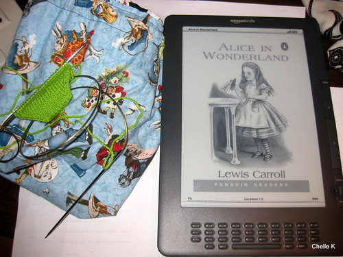 Two favourite things - Knitting and reading