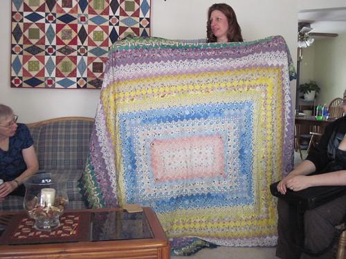Lisa's friend's found quilt top