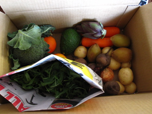 Our first box of produce