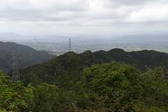 剱ヶ岳より福井市方面を望む