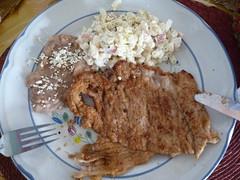 Dat beste von Mutti: Schnitzel mit Nudelsalat und Bohnenmus, Taxco