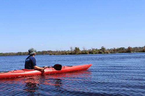 Kayaking - Pasquotank River - Ryan with Oasis of Vegetation