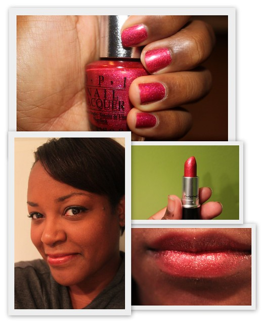 Mondays Manicure | lips & tips
