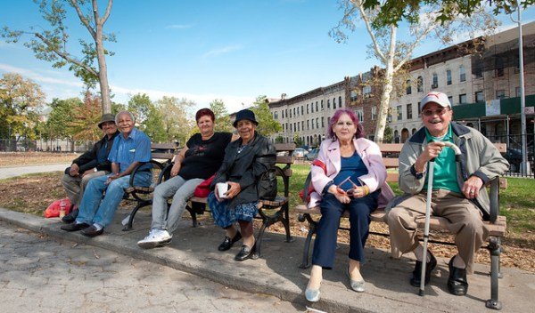 Finding the shade; Maria Hernandez Park