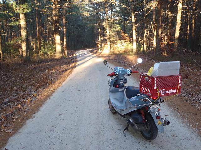 Franz Biberkopf, my Buddy 150 scooter, on the Blitzkrieg Trail