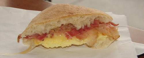 Starbucks Artisan Bacon, Egg & Gouda Breakfast Sandwich Half