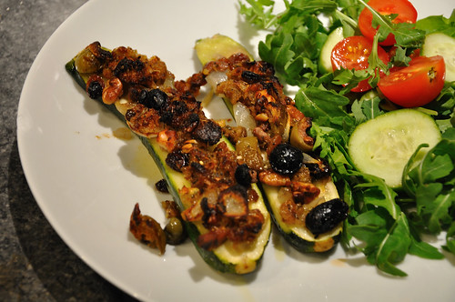 Courgettes with Orange Pine Nuts and Herbs