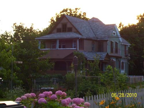 Galvin house at dusk