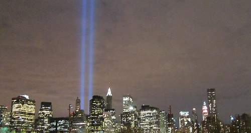 9.11.2010 Tribute in Lights Viewed From Brooklyn