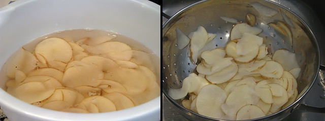 Soaking And Draining Potatoes