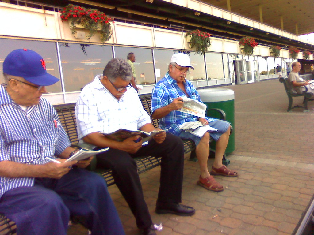 Track regulars, Belmont Park, New York