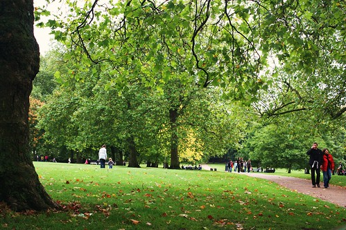 Walking in Green Park