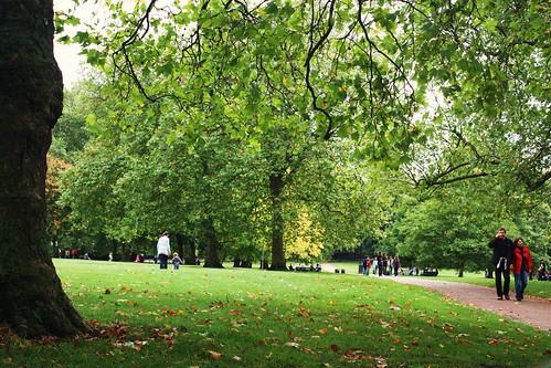 Walking in Green Park