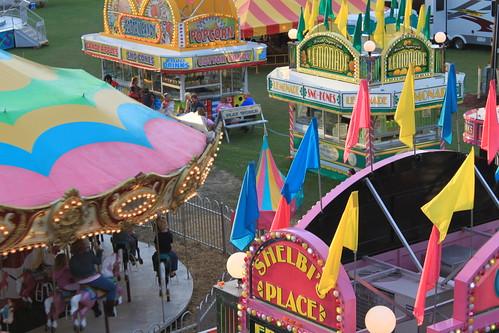 Chowan County Fair - Games From Ferris Wheel