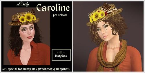 Hatpins - Lady Caroline - HDH