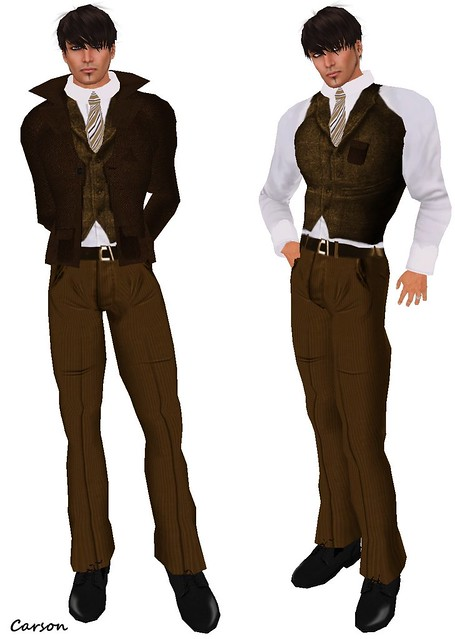 MHOH4 # 12 - BalAni 2 of 2  Brown Blazer vest and pants (2)