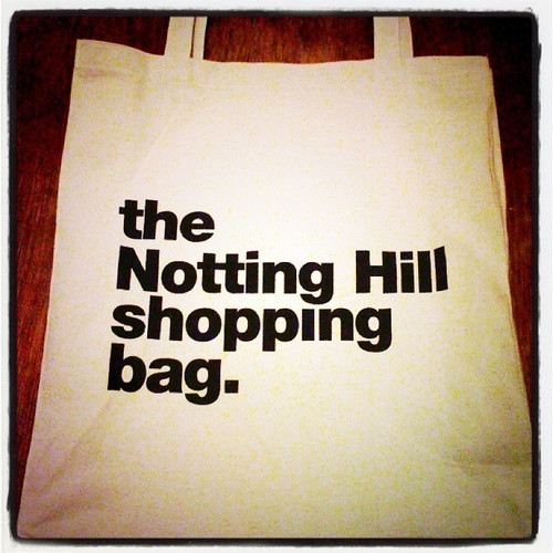 the Notting Hill shopping bag.