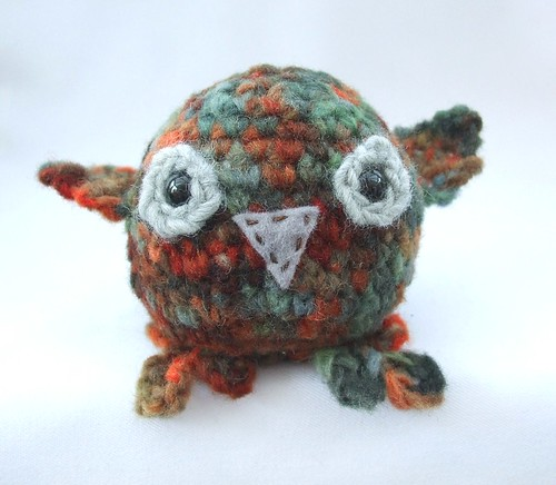 Crochet owl - take off!