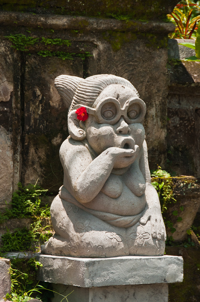 Statue at Balinese House Entrance