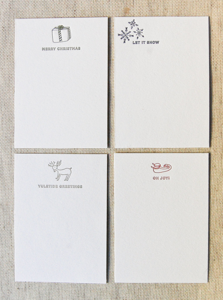 Chirstmas Note Cards | Four Up