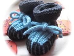 51-09 Baby Booties graphit-blau b