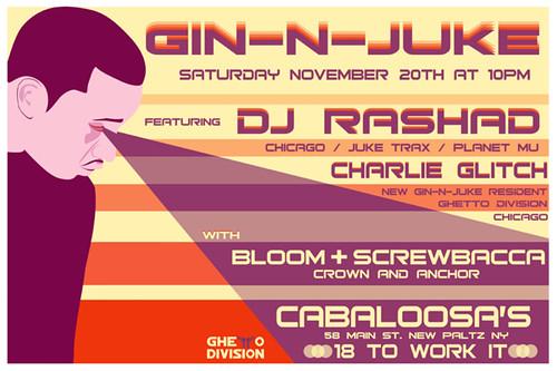 Contakt Filling in for DJ Rashad at Gin-N-Juke