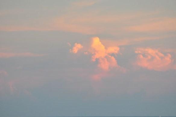 The sky of the dusk