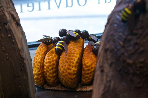 Chocolate Bees on Comb