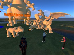 Spore Creatures invade OSGrid