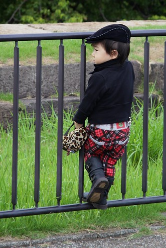 Punk boy outside Imperial Palace, Tokyo